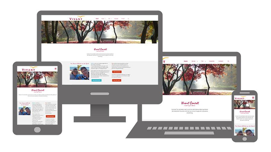 Vivant Consult website op diverse apparaten